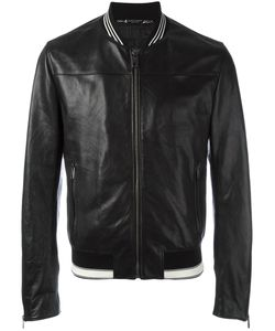 Dolce & Gabbana | Leather Bomber Jacket 48 Lamb Skin/Acetate/Viscose