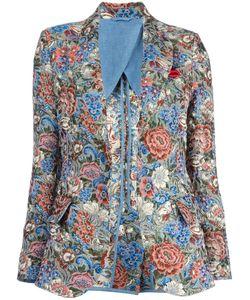 Ermanno Scervino | Jacquard Blazer 46 Polyester/Acrylic/Cotton/Linen/Flax