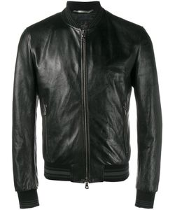 Dolce & Gabbana | Leather Bomber Jacket 50 Lamb