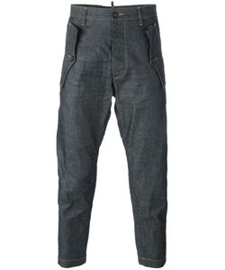 Dsquared2 | Cropped Rugged Pocket Jeans 42 Cotton