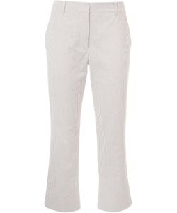 SIES MARJAN   Striped Cropped Trousers 8 Cotton