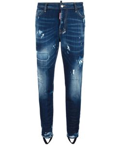 Dsquared2 | Ski Gaiter Bleached Jeans 40 Cotton/Spandex/Elastane