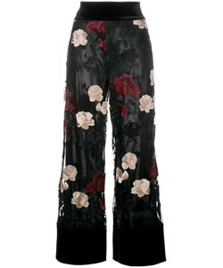Ganni | Simmons Embroidered Trousers 40 Polyester/Polyamide