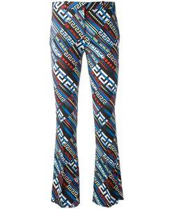 Versace | Greca Key Print Flared Trousers 42 Viscose/Spandex/Elastane