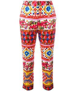 Dolce & Gabbana | Mambo Print Trousers 44 Cotton/Spandex/Elastane