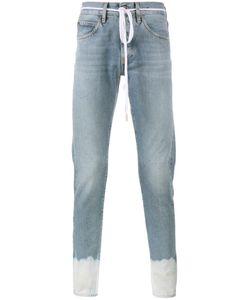 OFF-WHITE | Sprayed Hem Jeans 33 Cotton/Polyester