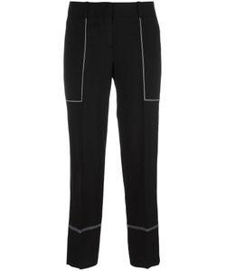 Ermanno Scervino | Contrast Stitch Wide-Leg Trousers 42 Viscose/Acetate/Cupro/Spandex/Elastane
