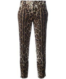 Dolce & Gabbana | Leopard Print Cropped Trousers 44 Cotton/Spandex/Elastane