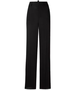 Dsquared2 | High-Waist Flared Trousers 44 Silk