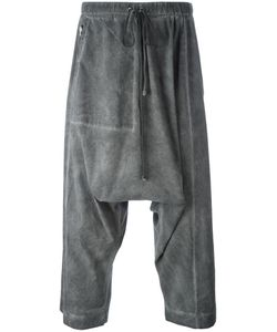 Lost & Found Rooms | Drop-Crotch Cropped Trousers Large Cotton/Spandex/Elastane