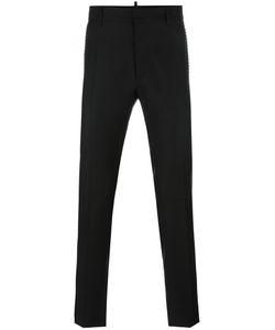 Dsquared2 | Studded Tailored Trousers 54 Silk/Virgin Wool/Brass/Glass