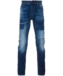 Diesel | Patched Slim-Fit Jeans 33/32 Cotton/Lyocell/Spandex/Elastane