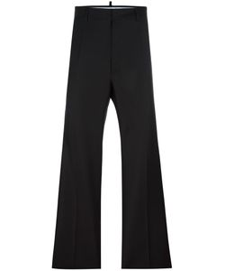 Dsquared2 | Tailored Wide Leg Trousers 46 Silk/Virgin Wool