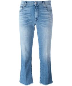 7 for all mankind | Raw Hem Cropped Jeans 30