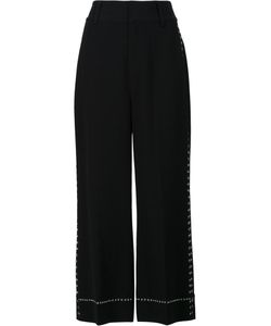 Derek Lam 10 Crosby   Wide-Legged Cropped Trousers Polyester/Triacetate