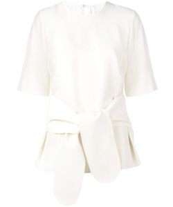 Victoria, Victoria Beckham | Victoria Victoria Beckham Tie Front T-Shirt 10 Viscose/Polyester