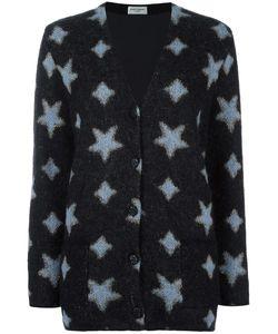 Saint Laurent | Star Print Oversized Cardigan Medium Mohair/Wool/Polyester/Silk