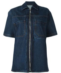 Each X Other | Zip-Up Denim Shirt Medium Cotton
