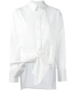 Victoria, Victoria Beckham | Victoria Victoria Beckham Asymmetric Bow Shirt Womens Size 6 Cotton