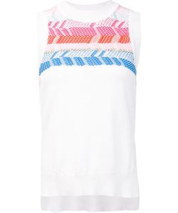 Peter Pilotto | Geometric Knitted Sleeveless Top Small Cotton