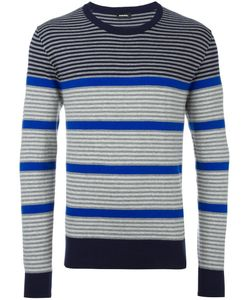 Diesel | Ribbed Trim Striped Jumper Xl Cotton/Nylon/Spandex/Elastane