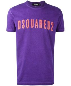 Dsquared2 | Vintage Embroidered Logo T-Shirt Large Cotton