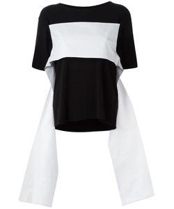 MM6 by Maison Margiela   Mm6 Maison Margiela Strap Detail T-Shirt Large Acetate/Cotton/Polyamide/Spandex/Elastane