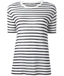 T By Alexander Wang | Striped T-Shirt 2 Linen/Flax/Rayon