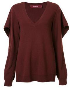 SIES MARJAN   Cape Detail Jumper Small Nylon/Cashmere/Virgin Wool
