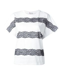 Red Valentino | Lace-Up Detailing T-Shirt Xs Polyamide/Cotton