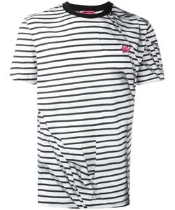 Mcq Alexander Mcqueen | Striped Swallow T-Shirt Small Cotton