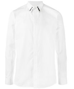 Givenchy | Star And Stripe Embroidered Shirt 39 Cotton/Polyester/Ceramic