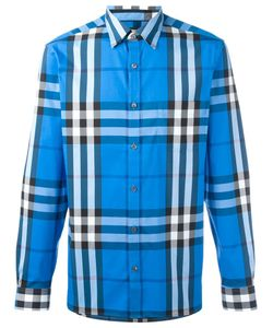 Burberry | Checked Print Shirt Xl Cotton/Spandex/Elastane/Polyamide