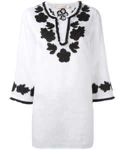 Tory Burch | Embroidery Blouse Large Linen/Flax/Cotton/Polyester