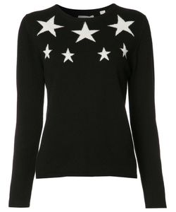Chinti And Parker | Embroidered Stars Jumper Small Cashmere