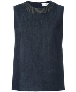 Victoria, Victoria Beckham   Victoria Victoria Beckham Stitching Detail Top 10 Cotton/Polyester/Spandex/Elastane