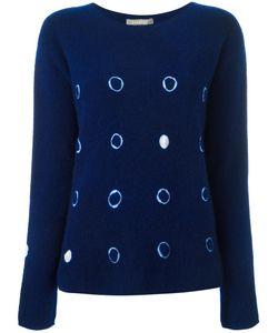 SUZUSAN | Tie Dye Circles Jumper Medium Cashmere
