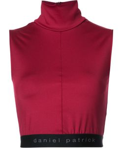 Daniel Patrick | Funnel Neck Cropped Top Medium Polyester/Spandex/Elastane