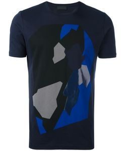 Diesel Black Gold | Abstract Print T-Shirt Small Cotton