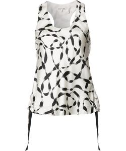 Helmut Lang | Stylised Print Tank Top Small Silk