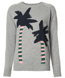 Chinti And Parker | Palm Trees Jumper Large Cashmere