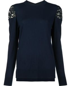 Adam Lippes | Lace Shoulder Jumper Large Merino