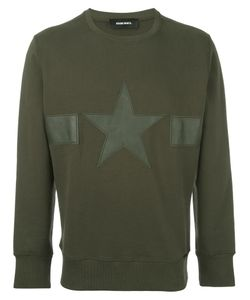 Diesel | Star Patch Ribbed Trim Sweatshirt Medium Cotton/Sheep