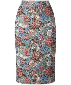 Ermanno Scervino | Jacquard Pencil Skirt 44 Polyester/Acrylic/Cotton/Other Fibers