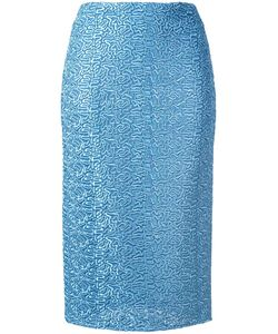 Ermanno Scervino | Textured Pencil Skirt 42 Polyester/Polyamide