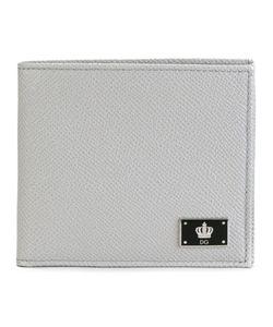 Dolce & Gabbana | Crown Logo Plaque Billfold Wallet Calf Leather Dolce
