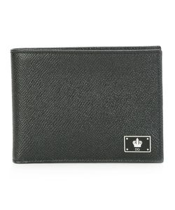 Dolce & Gabbana | Crow Logo Plaque Billfold Wallet Calf Leather Dolce
