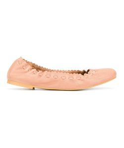 See By Chloe | See By Chloé Scalloped Ballerinas 36 Leather/Rubber
