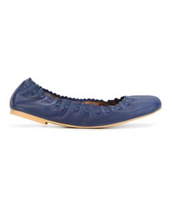 See By Chloe   See By Chloé Scalloped Ballerinas 38 Leather/Rubber