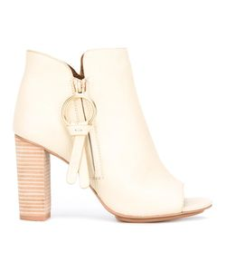 See By Chloe | See By Chloé Peep Toe Ankle Boots 38.5